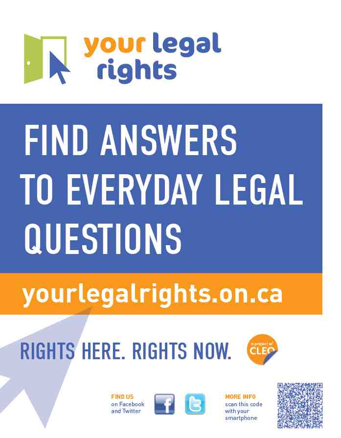 Your Legal Rights Promotional Poster