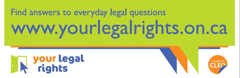 Your Legal Rights Promotional Bookmark