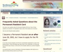 Thumbnail image for Frequently Asked Questions about the Permanent Resident Card