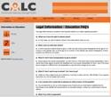 Thumbnail image for Legal Information - Education FAQ's