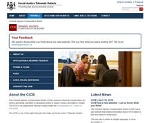 CICB home page screen capture