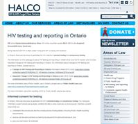 Changes in HIV Testing and Reporting in Ontario