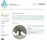 Openness Resources - Adoption Council of Ontario