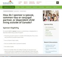How can I sponsor a family member to immigrate to Canada?