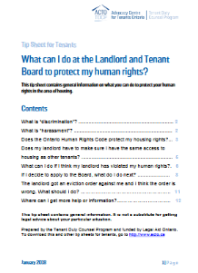 What can I do at the Landlord and Tenant Board to protect my human rights?