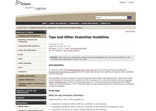Tips and Other Gratuities Guideline