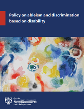 Policy on ableism and discrimination based on disability thumbnail