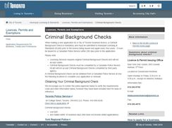 Criminal background checks city of toronto your legal for General motors criminal background check