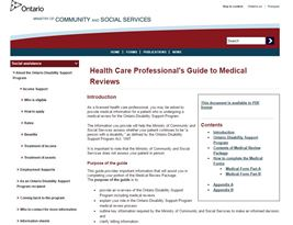 Health Care Professional's Guide to Medical Reviews