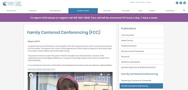 Family Centered Conferencing (FCC)