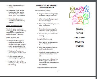 Family Group Decision Making (FGDM)