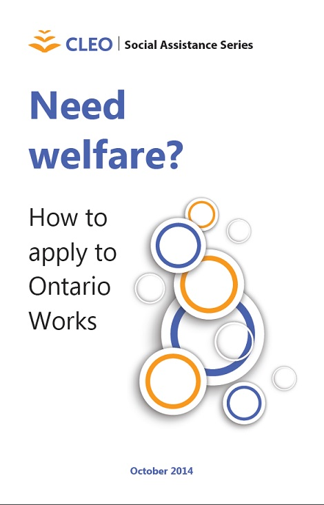 Need Welfare How To Apply To Ontario Works Your Legal