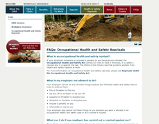 FAQs: Occupational Health and Safety Reprisals thumbnail image