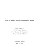 Guide for Lawyers Working with Indigenous Peoples thumbnail