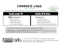 Infographic on recreational cannabis for youth thumbnail