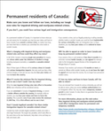 Permanent residents of Canada: thumbnail
