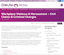 Workplace Violence & Harassment – Civil Claims & Criminal Charges thumbnail