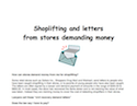 Thumbnail image for Shoplifting and letters from stores demanding money