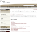 Thumbnail image for A Guide to the Occupational Health and Safety Act