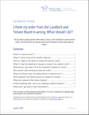 I think my order from the Landlord and Tenant Board is wrong. thumbnail