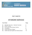 Thumbnail image Attendant Services Fact Sheets