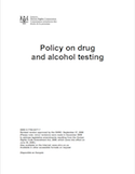 Policy on drug and alcohol testing thumbnail
