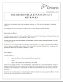 The Residential Tenancies Act Offences thumbnail