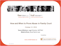 How and When to Prove Abuse in Family Court thumbnail