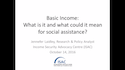 Basic Income: What is it and what could it mean for social assistance?