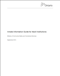 Inmate Information Guide for Adult Institutions thumbnail