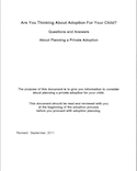 Are You Thinking About Adoption For Your Child? thumbnail