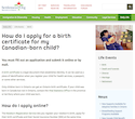 How do I apply for a birth certificate for my Canadian-born child? thumbnail