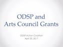 ODSP and Arts Council Grants thumbnail