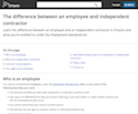 The difference between an employee and independent contractor thumbnail