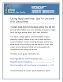 Using legal services: tips for persons with disabilities thumbnail