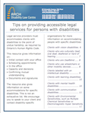 Providing accessible legal services for persons with disabilities thumbnail