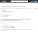 Filing an employment standards claim thumbnail