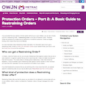 Protection Orders – Part 2: A Basic Guide to Restraining Orders thumbnail