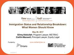 Immigration Status and Relationship Breakdown Thumbnail Image